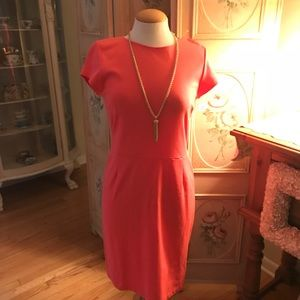 Bar III beautiful coral body con dress